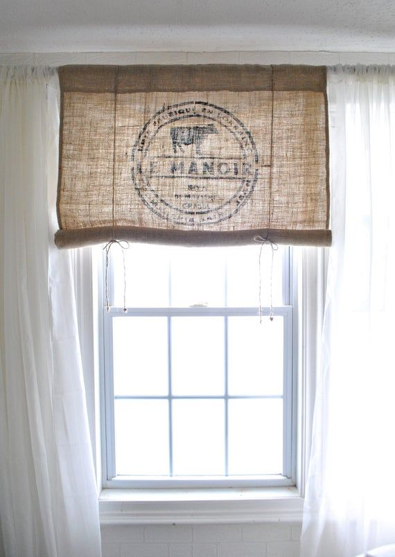 Le Manoir Burlap Curtain Valance Burlap Curtains Bathroom Window Curtains Curtains