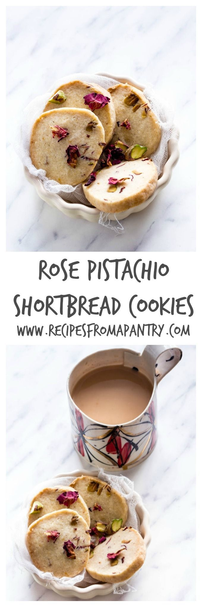 Rose Pistachio Shortbread Cookies | Recipes From A Pantry