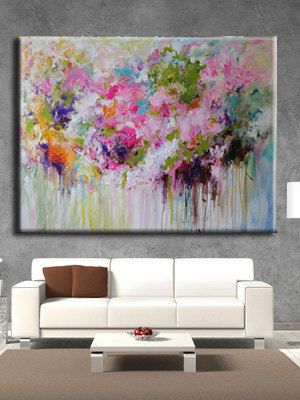 ORIGINAL abstract painting Abstract flower,abstract art ,large abstract…