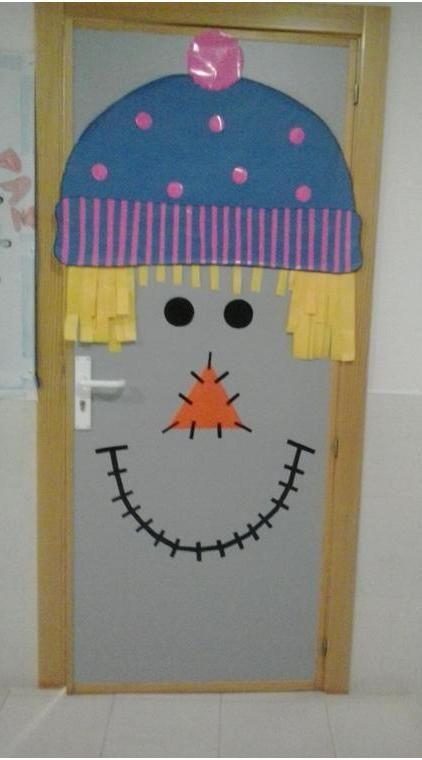 Mi puerta de Infantil, vestida para el INVIERNO, Cole de Monterrubio de Armuña (Salamanca)