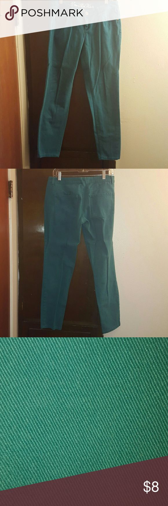 Turquoise jeans Like new jeans only worn once. Vanilla Star Jeans Skinny