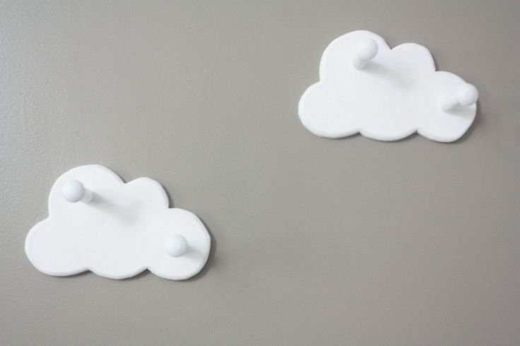 Cloud Wall Hooks-Set of Two. $22.00, via Etsy.