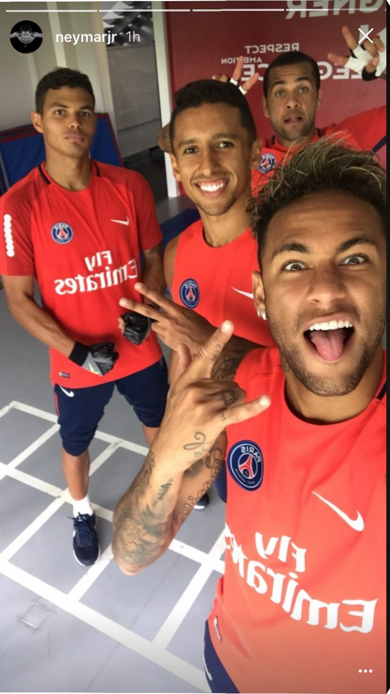 Neymar and his mates