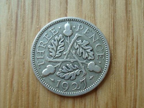 Rare George V Silver Proof Acorn Threepence 1927