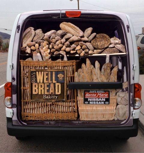Our new delivery van! Bison bread co Vehicle signage, Van wrap y Van design