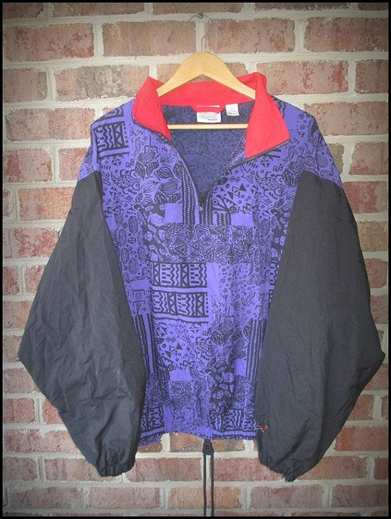 Vintage 90's Reebok Greg Norman The Shark Tribal Windbreaker Jacket by CharchaicVintage, $25.00