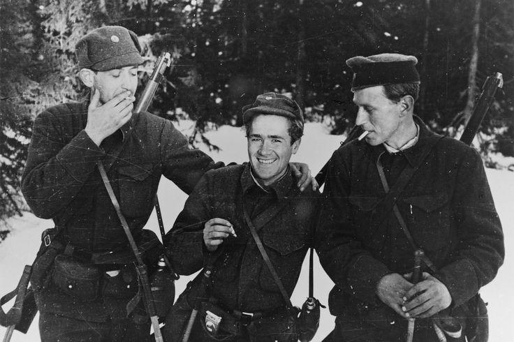 WW2 Norway 1940. Norwegian soldiers in Østerdalen
