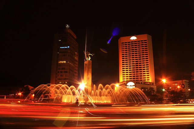 Night at the heart of Jakarta