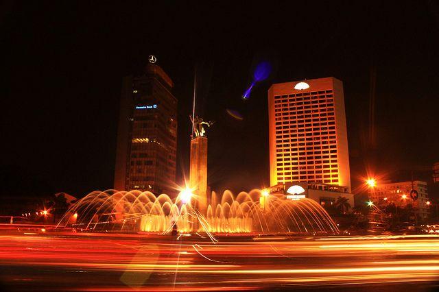 Night at the heart of Jakarta