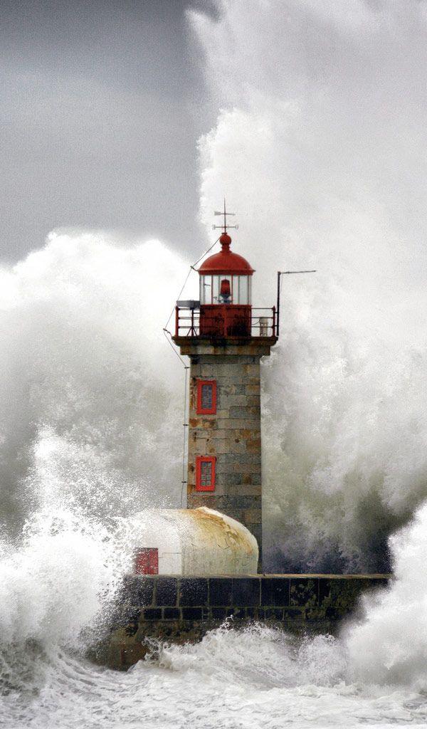 Stormy Lighthouse, Porto, Portugal