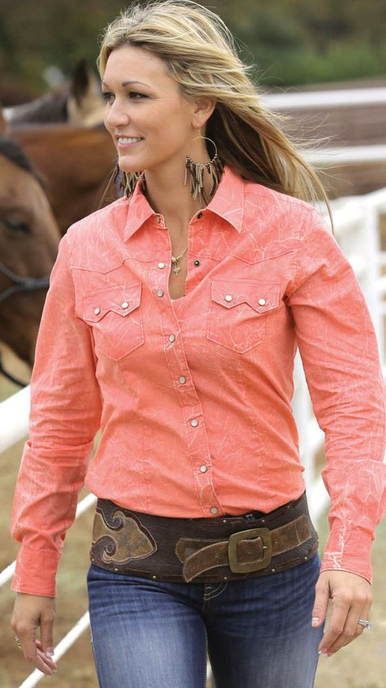 $24.99! CRUEL GIRL RODEO Western Barrel Arena Fit Snaps SHIRT COWGIRL NWT LARGE #CruelGirl #Western