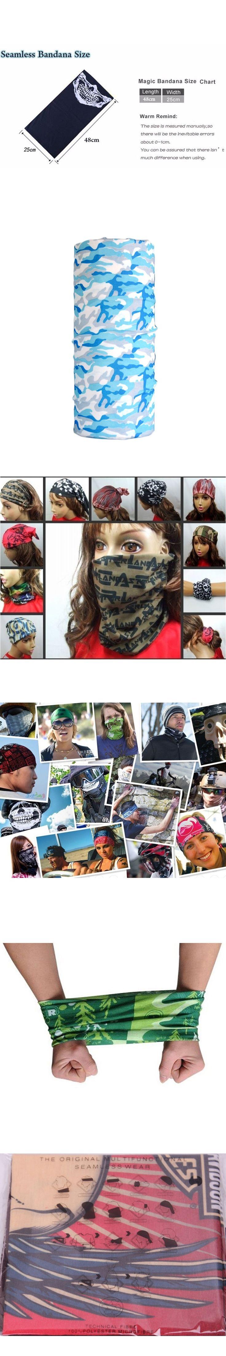Novelty Bicycle Biker Bandanas Camouflage Seamless Bandanas Headwear Scarf Magic Headband Neck Tube Face Mask Hood 219
