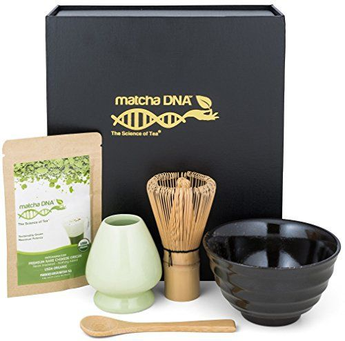 Matcha Tea Gift Set - Matcha Tea Ceremony Set by Matcha DNA (Black) - http://mygourmetgifts.com/matcha-tea-gift-set-matcha-tea-ceremony-set-by-matcha-dna-black/