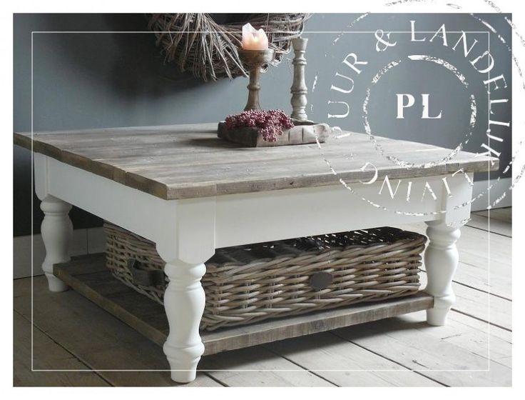 Maatwerk / Landelijke salontafel / old wood / RESORT | 》Landelijke salontafels | Puur & Landelijk Living