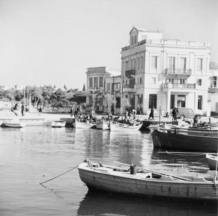 Lala Aufsberg, Αίγινα, στο λιμάνι, 1963,
