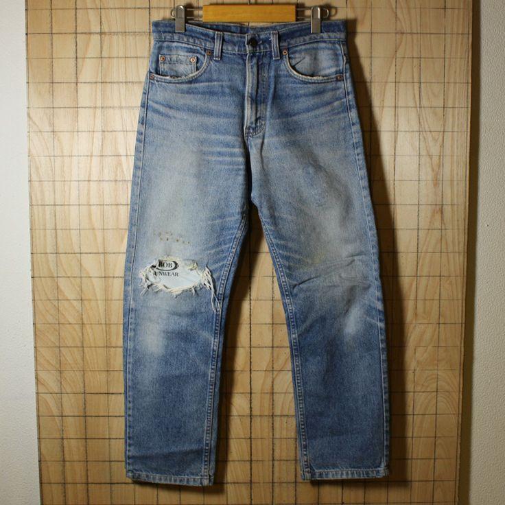 Levi's/USA製古着リーバイス505テーパードデニムパンツ・レギュラージーンズ/サイズW30L34/de-p-58