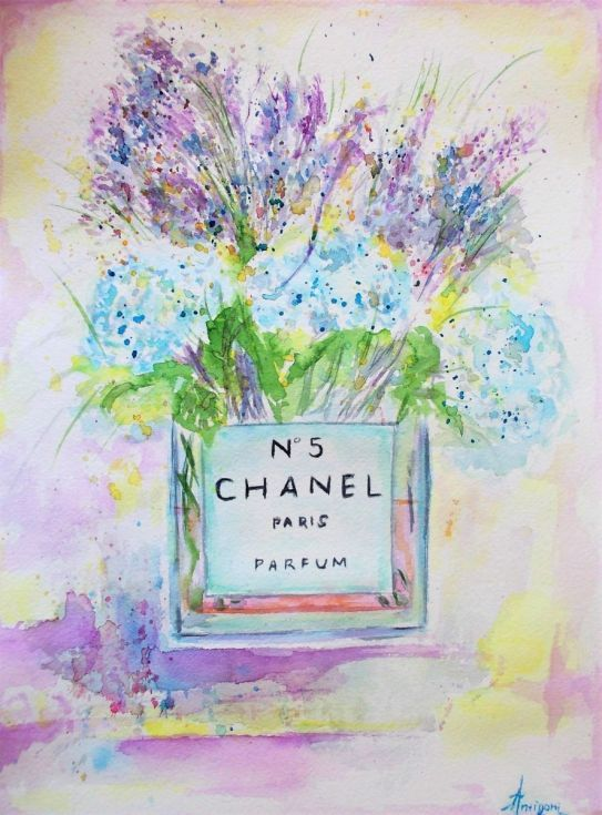 Buy Hydrangea and Lavender, Watercolor by Antigoni Tziora on Artfinder. Discover thousands of other original paintings, prints, sculptures and photography from independent artists.