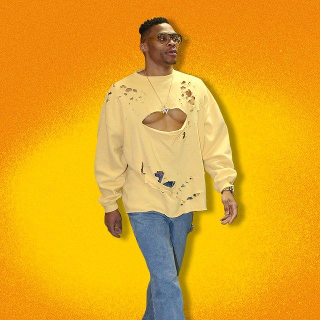 Russell Westbrook Took Distressed Clothing to a Hole New Level | GQ
