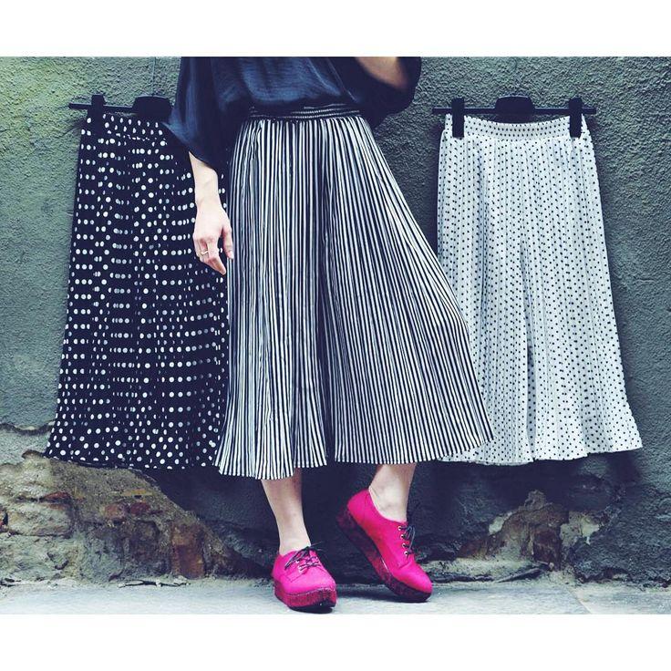 Swing it  stripes and dots monochrome frothy pants szputnyik shop