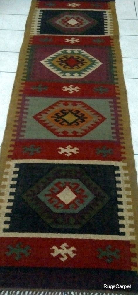 75x240cm. Jute Wool large Fine Weave Hippie Best Quality Christmas Rugs Runners  #RugsCarpet #Braided