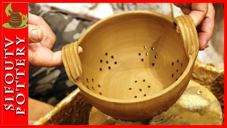Pottery throwing - How to Make a Pottery Berry Bowl #90
