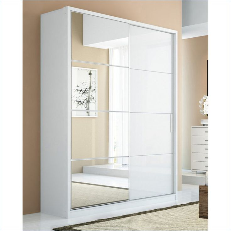 Bellevue 2-Doors Wardrobe in White Gloss