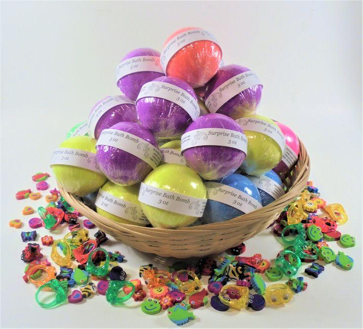 25 Surprise bath bomb, toys bath bomb, wholesale, bulk, party favors, birthday, spa, shower favors, handmade bath bomb, bath bomb for kids by soapylover on Etsy