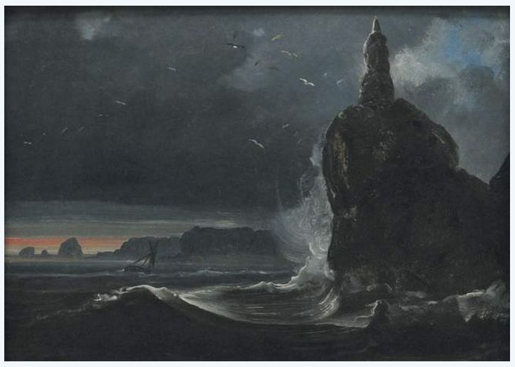 View of Stappen before Flavoen, 1847
