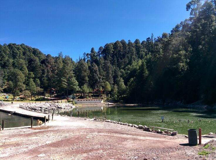 Natural Spa (mud bath, hot springs) in Los azufres, Michoacán