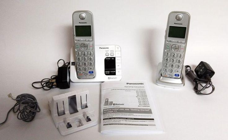 Panasonic KXTGE262 DECT 6.0 Digital Cordless Phone Answering System 2 Handsets #Panasonic