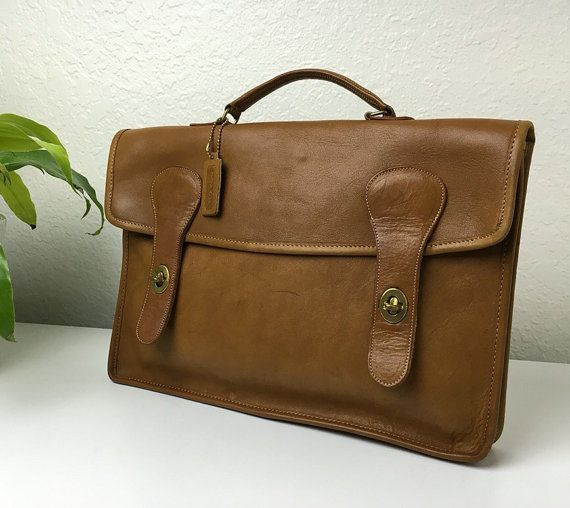 70's Coach Briefcase by HistoricalLaughter on Etsy