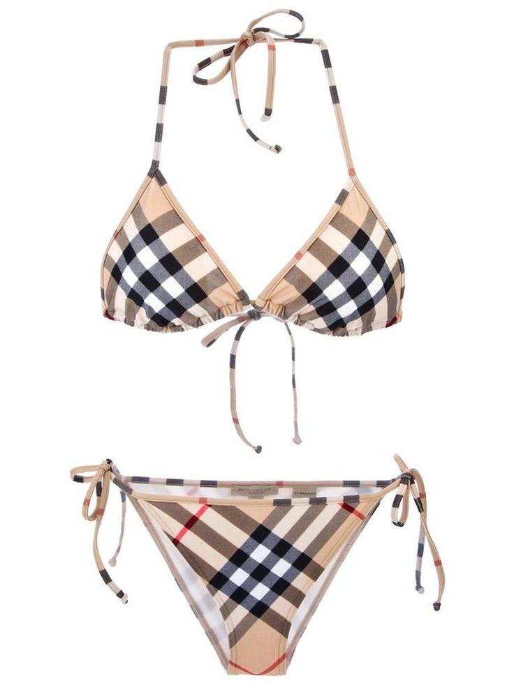 Burberry Brit house check #bikini #swimwear #fashion $176