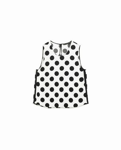 Image 8 of POLKA DOT TOP from Zara
