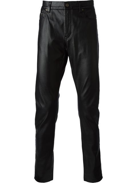 Shop Saint Laurent leather effect trousers in Barrow from the world's best independent boutiques at farfetch.com. Over 1000 designers from 60 boutiques in one website.