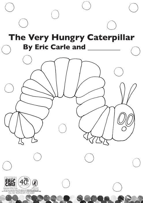 very hungry caterpillar coloring page preschool very hungry caterpillar pinterest. Black Bedroom Furniture Sets. Home Design Ideas