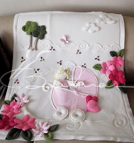 Baharca bebekli polar bebek battaniyesi  Baharca tasarım  handmade