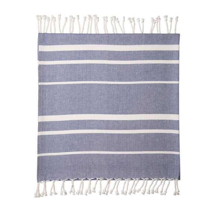 Navy Beach Towel - Noosa Living