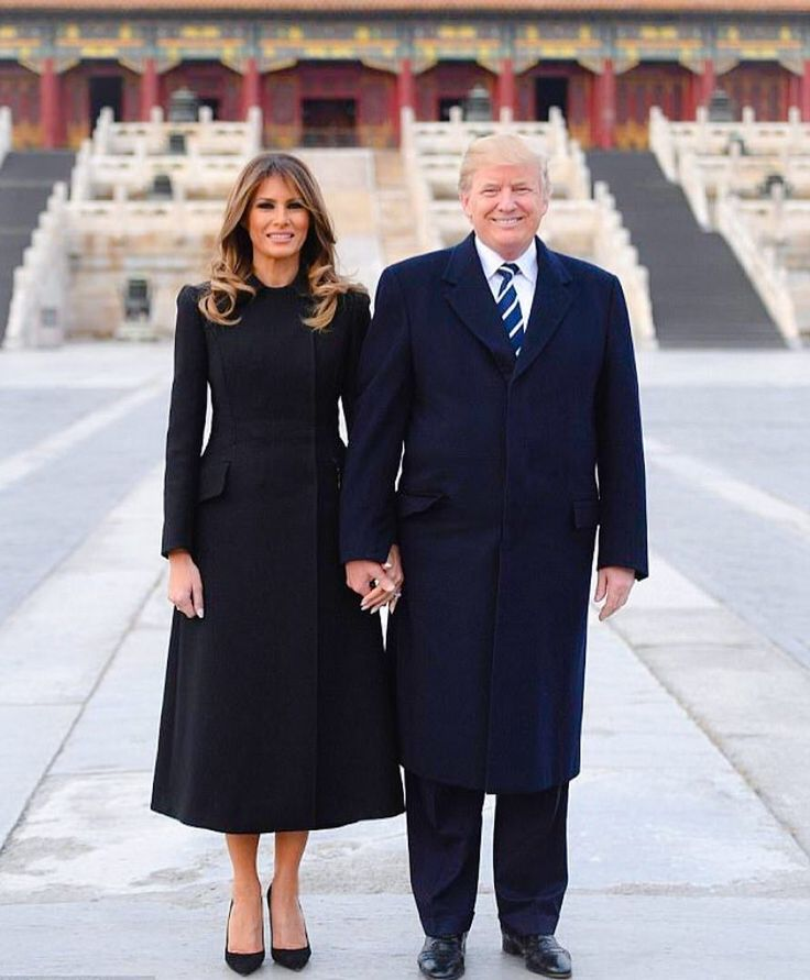 30 best proud conservative images on pinterest anti liberal melania is accompanying her husband president trump on a asia tour and arrived in beijing today looking elegant in a chic black coat by dior malvernweather Image collections