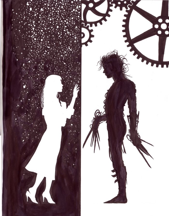 Kim and Edward Scissorhand.  I really loved this move and when I saw this picture it just took me back.