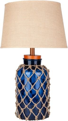 Apt2B Barents Table Lamp OCEAN BLUE/BURLAP