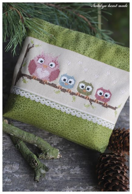 heartmade: November 2012 owls cross stitch