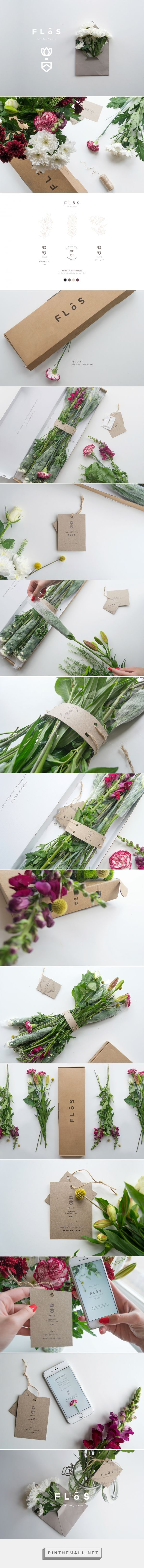 Flōs - Letterbox Flowers Logo Design & Packaging by Giadaland… More