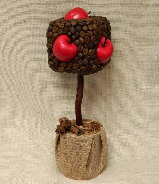 """Кофейный топиарий """"Яблоки в кубе""""."""