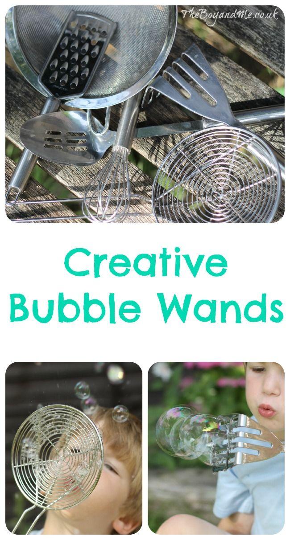 Creative Bubble Wands