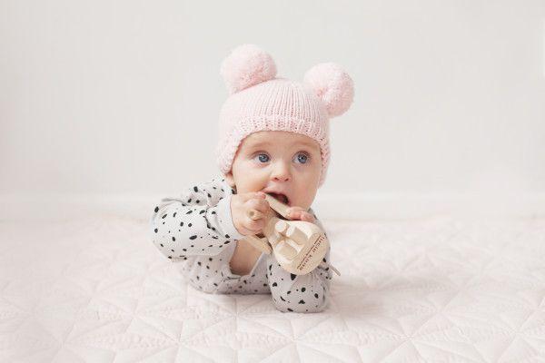 Merino Bear Hat - Grey