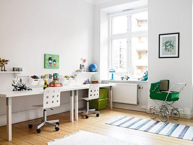 Twin desks. stadshem.