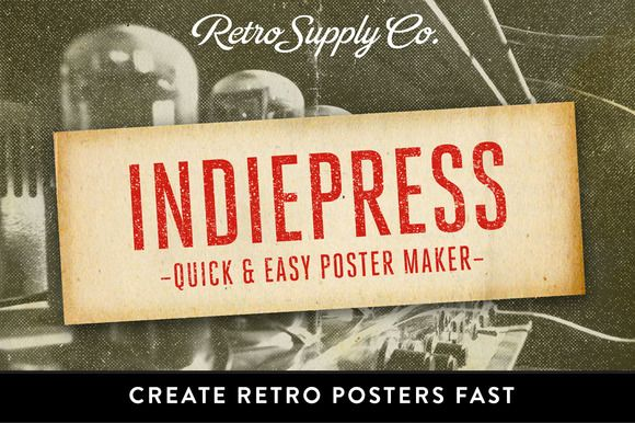 Check out IndiePress - Quick Poster Maker by RetroSupply Co. on Creative Market