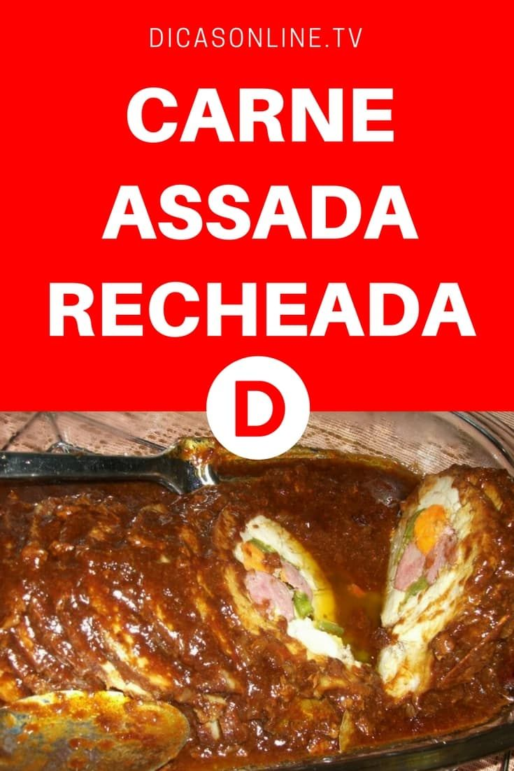 Carne assada na panela de pressao   CARNE ASSADA RECHEADA