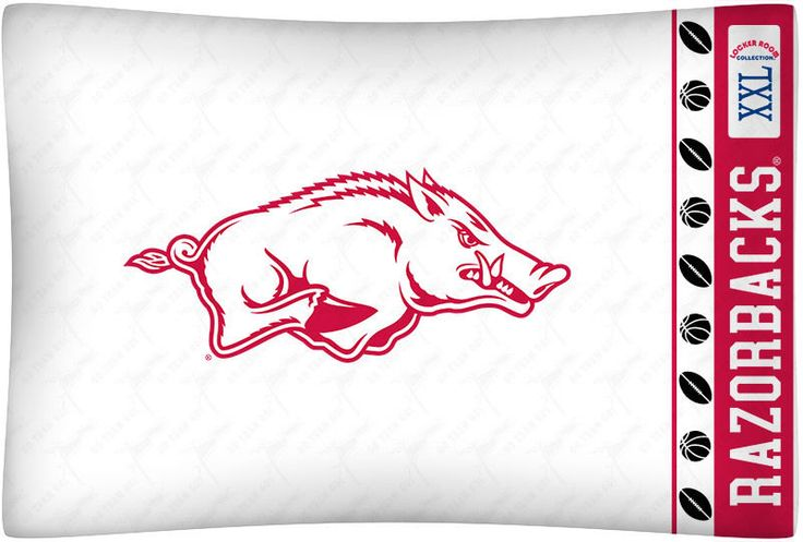 New Arkansas Razorbacks NCAA Microfiber Standard Pillowcase #SportsCoverage