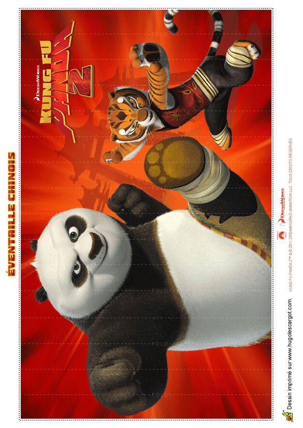 Pliage d'un éventail Kung-Fu Panda 2.